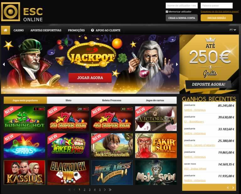 screenshot esc online casino estoril
