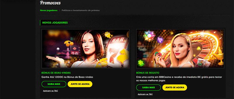 888 Casino Promoções