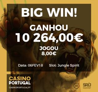 casino portuga ganhos